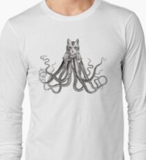 Octopussy | Black and White Long Sleeve T-Shirt