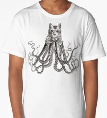 Octopussy | Black and White Long T-Shirt