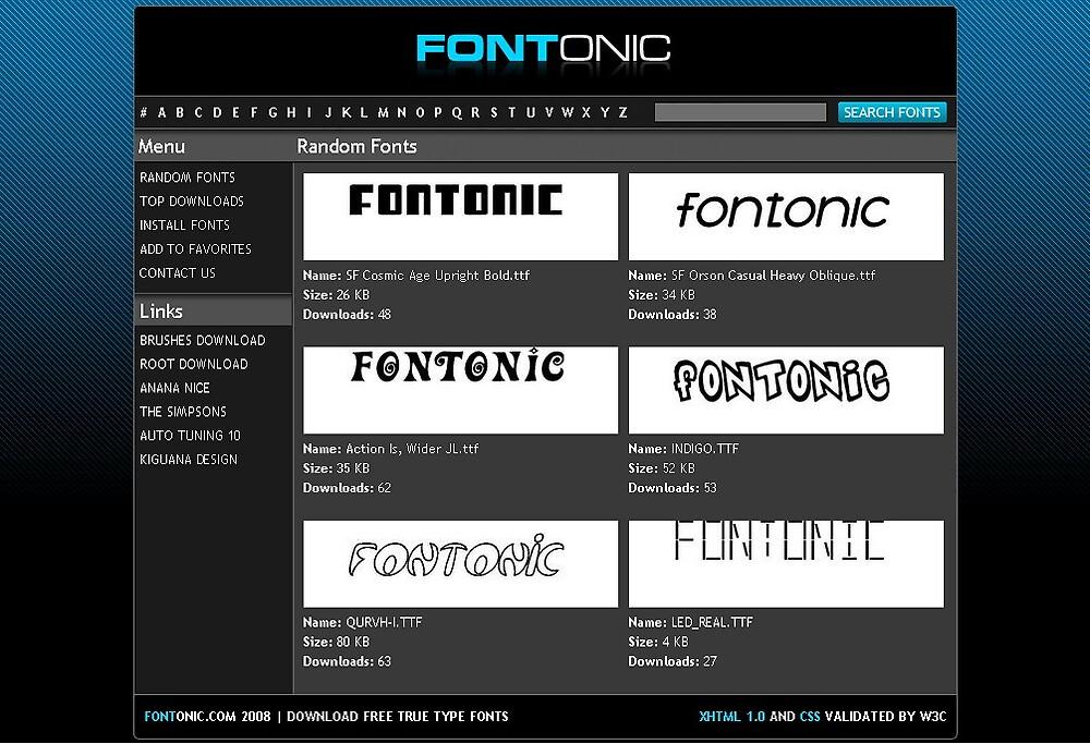 Fontonic.com - Download Free True Type Fonts by kiguana