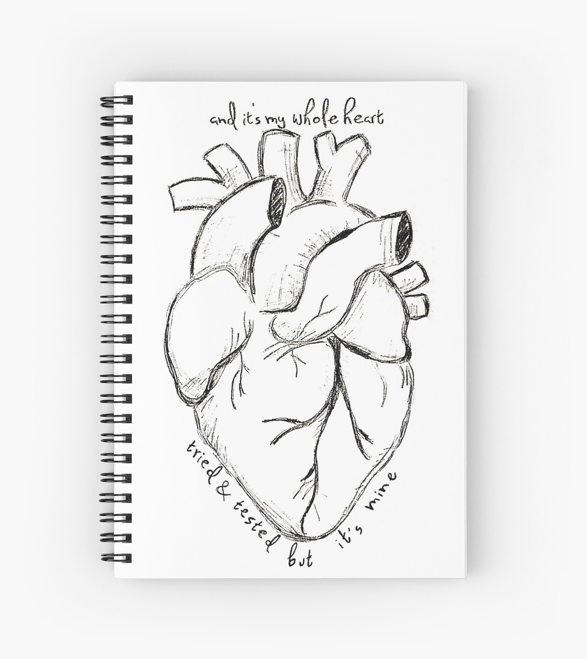 'Florence and The Machine--It's My Whole Heart' Spiral Notebook by  ThatLunchBxGirl