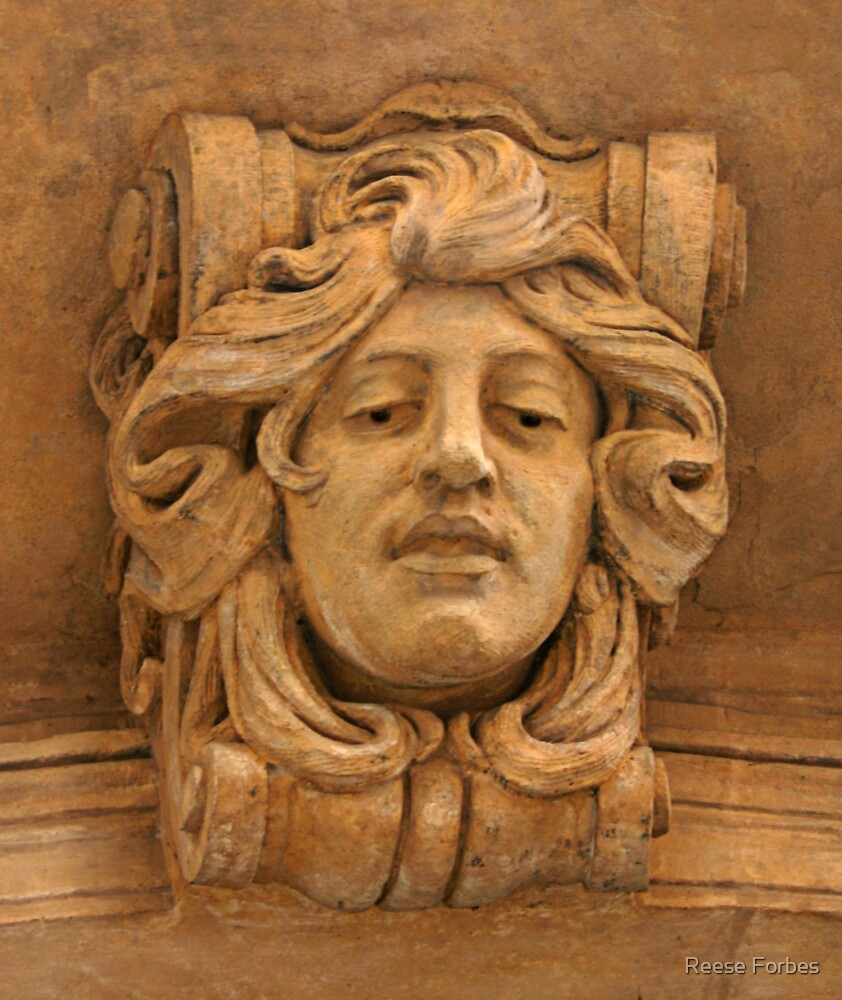 Italian Female Head Wall Detail by Reese Forbes