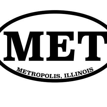Metropolis, Illinois Travel Logo by chrisisreed