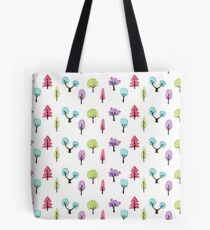 Happy Forest Pattern Tote Bag