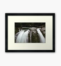 PNW Waterfall - Pacific Northwest Forest Adventure Framed Print