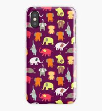 Funny elephants iPhone Case