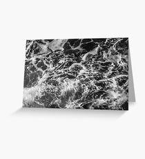 Wonderful Coastal Current - Ocean Sea Waves Greeting Card