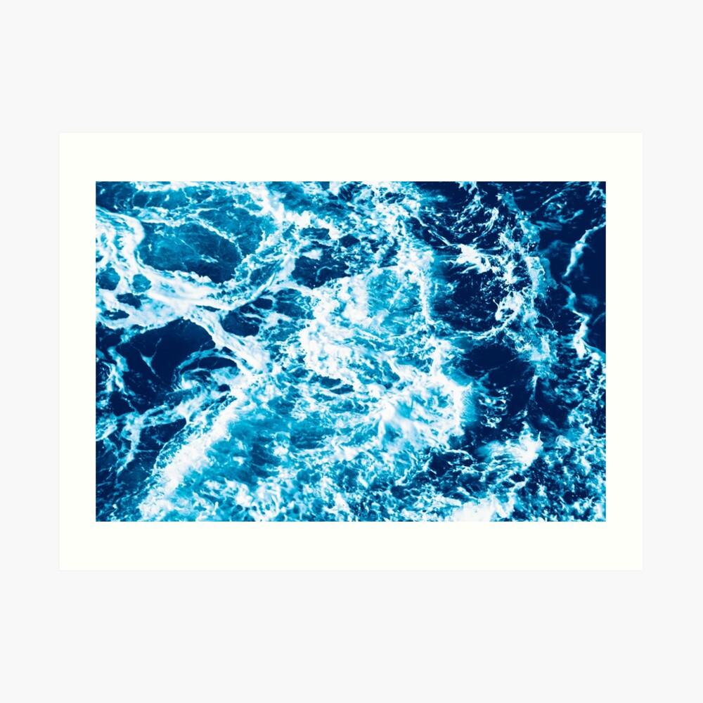 Ola de mar turquesa - marmoleado eléctrico Lámina artística