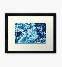 Turquoise Ocean Wave - Electric Marbled Seas Framed Print