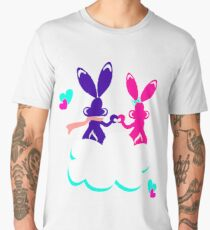 Love is.. / Couple of bunnies in love  Men's Premium T-Shirt