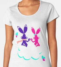 Love is.. / Couple of bunnies in love  Women's Premium T-Shirt