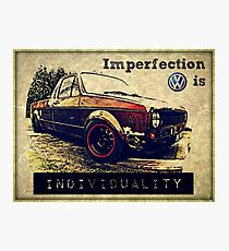 VW Imperfection Photographic Print