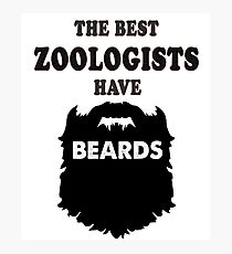 zoologist gift beards, zoo bearded animals pets health t shirt Photographic Print