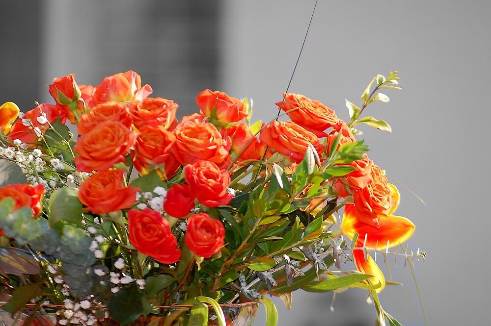 Orange Arrangement by Cynde143