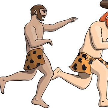 Cartoon evolution theory, progression of man mankind by illumylov