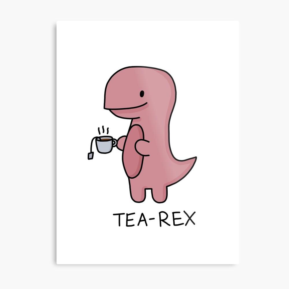 Ilustración 'Tea-Rex' Lienzo metálico