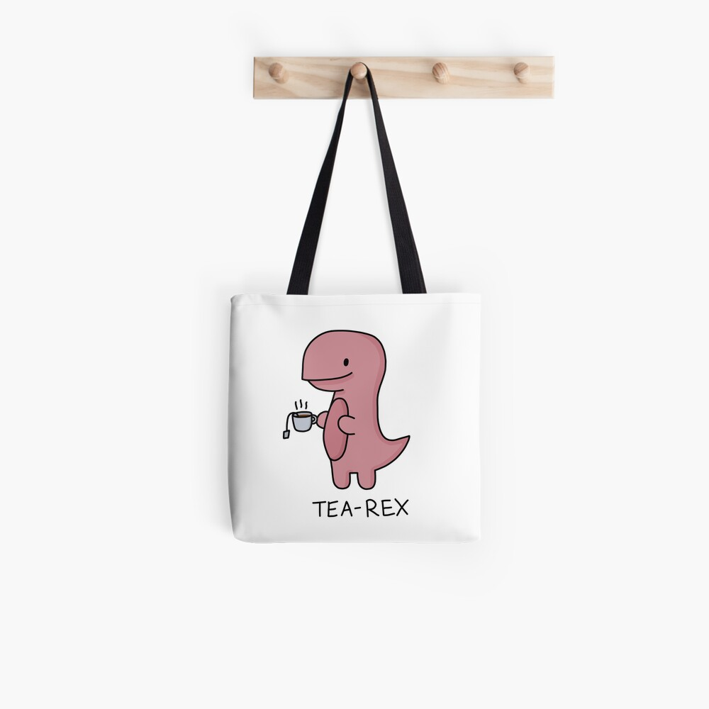 Ilustración 'Tea-Rex' Bolsa de tela