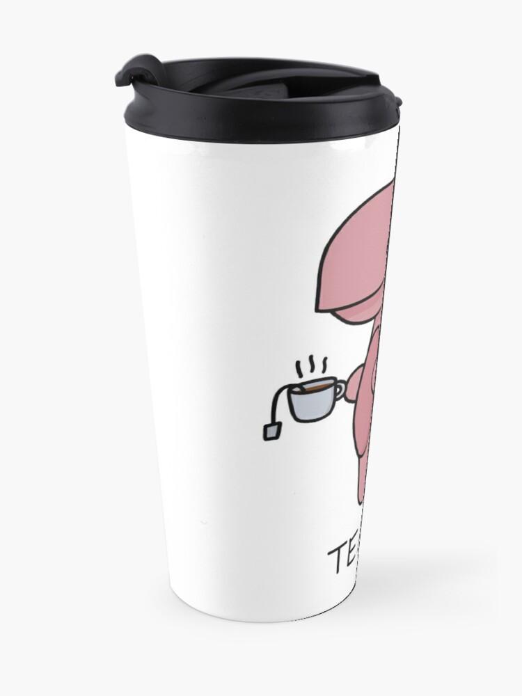 Alternate view of 'Tea-Rex' Illustration Travel Mug