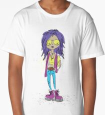 Teenage girl in modern clothes Long T-Shirt