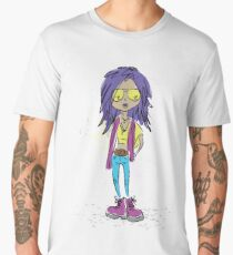 Teenage girl in modern clothes Men's Premium T-Shirt