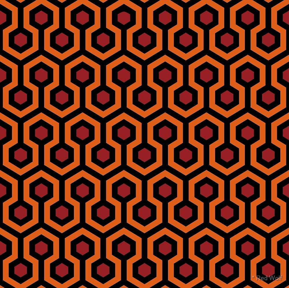 Overlook Hotel Carpet from The Shining: Orange/Red by * Red Wolf