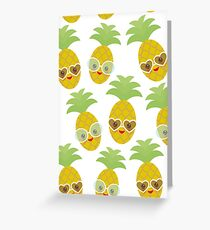 Happy Pineapples Greeting Card