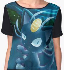 Meowth Alola Pokémon Sun and Moon Women's Chiffon Top