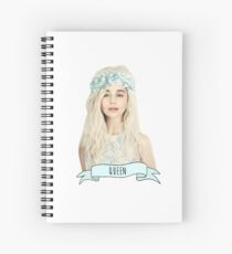 Emilia Clarke wearing a flower crown Spiral Notebook