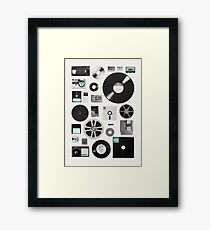 Data Framed Print