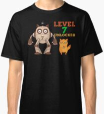 7th Birthday Level 7 Unlocked Gamer Funny Gift Baby Classic T-Shirt