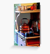 Copper Tea Kettle on Stove Greeting Card