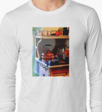 Copper Tea Kettle on Stove Long Sleeve T-Shirt