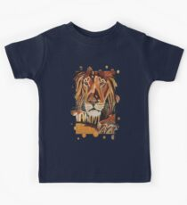 Lion Vector In Cubist Style Kids Clothes