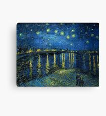 Starry Night Over the Rhône by Vincent van Gogh Canvas Print