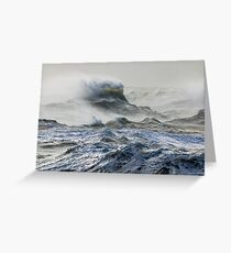 Wind and Waves in English Channel Greeting Card