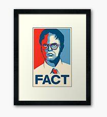 The Office - Dwight Schrute FACT. Poster Art Framed Print