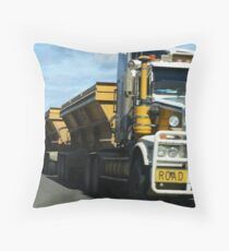 Roadtrain Throw Pillow