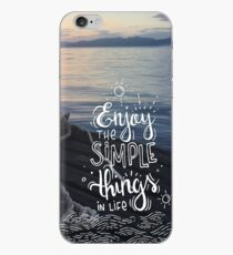 Enjoy the simple things in life - Landscape by the sea iPhone Case