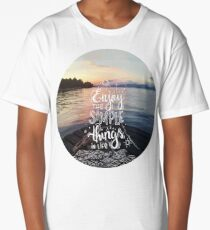 Enjoy the simple things in life - Landscape by the sea Long T-Shirt