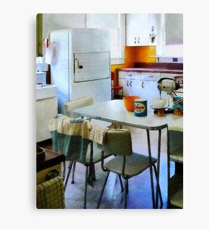 Fifties Kitchen Canvas Print