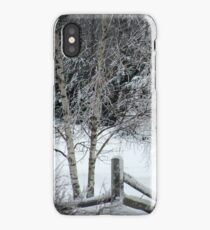 Snow on Fence iPhone Case