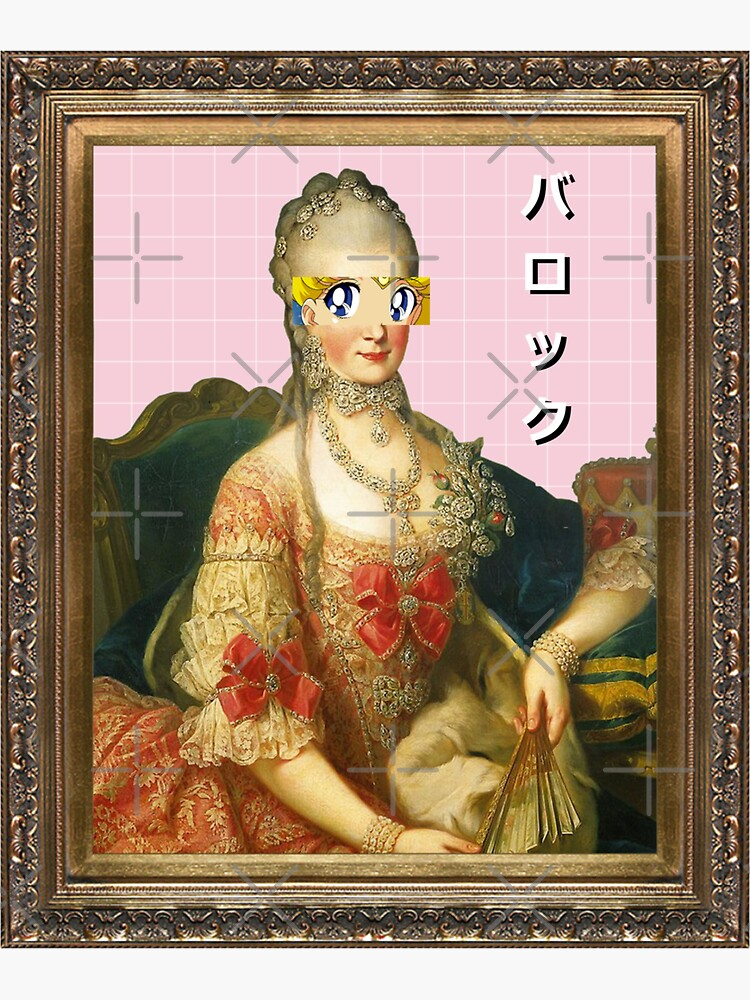 VAPORWAVE Rococo Dame de PeachPantone
