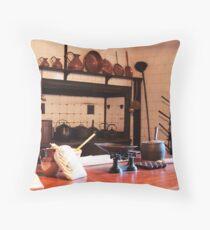 Old Kitchen Table Throw Pillow