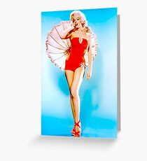 MARILYN MONROE : Modeling a Red Bathing Suit Print Greeting Card