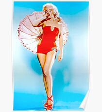 MARILYN MONROE : Modeling a Red Bathing Suit Print Poster