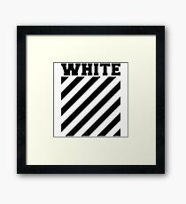 Off-white logo stripes Framed Print