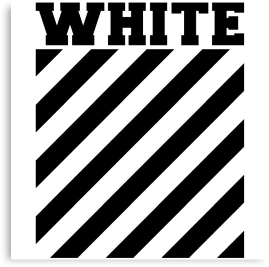 off white logo stripes canvas prints by picture of nature redbubble