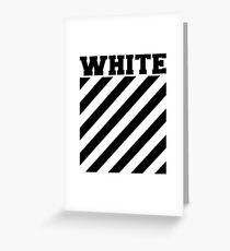 Off-white logo stripes Greeting Card