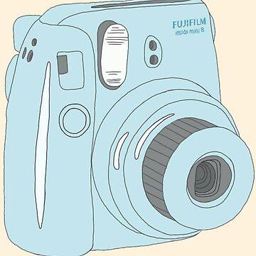 Kawaii Polaroid Instax Blue de PeachPantone