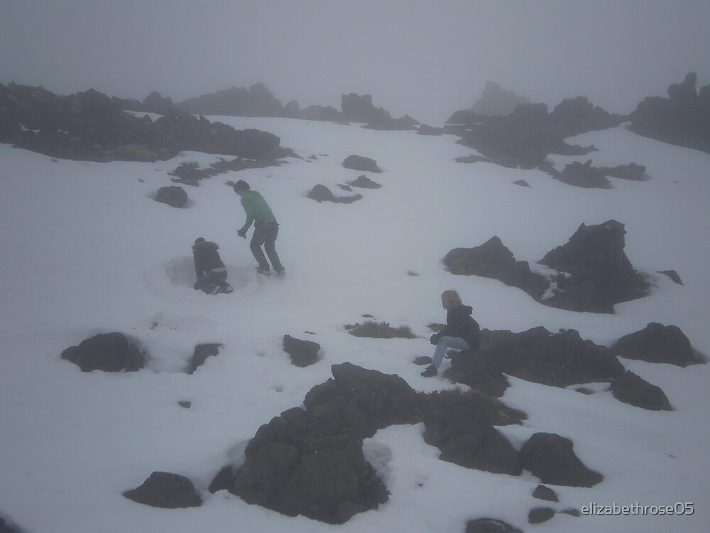 Playing in the Snow on Mt. Ruapehu by elizabethrose05