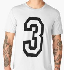 3, TEAM SPORTS, NUMBER 3, THREE, THIRD, Competition, Tri,  Triple Men's Premium T-Shirt